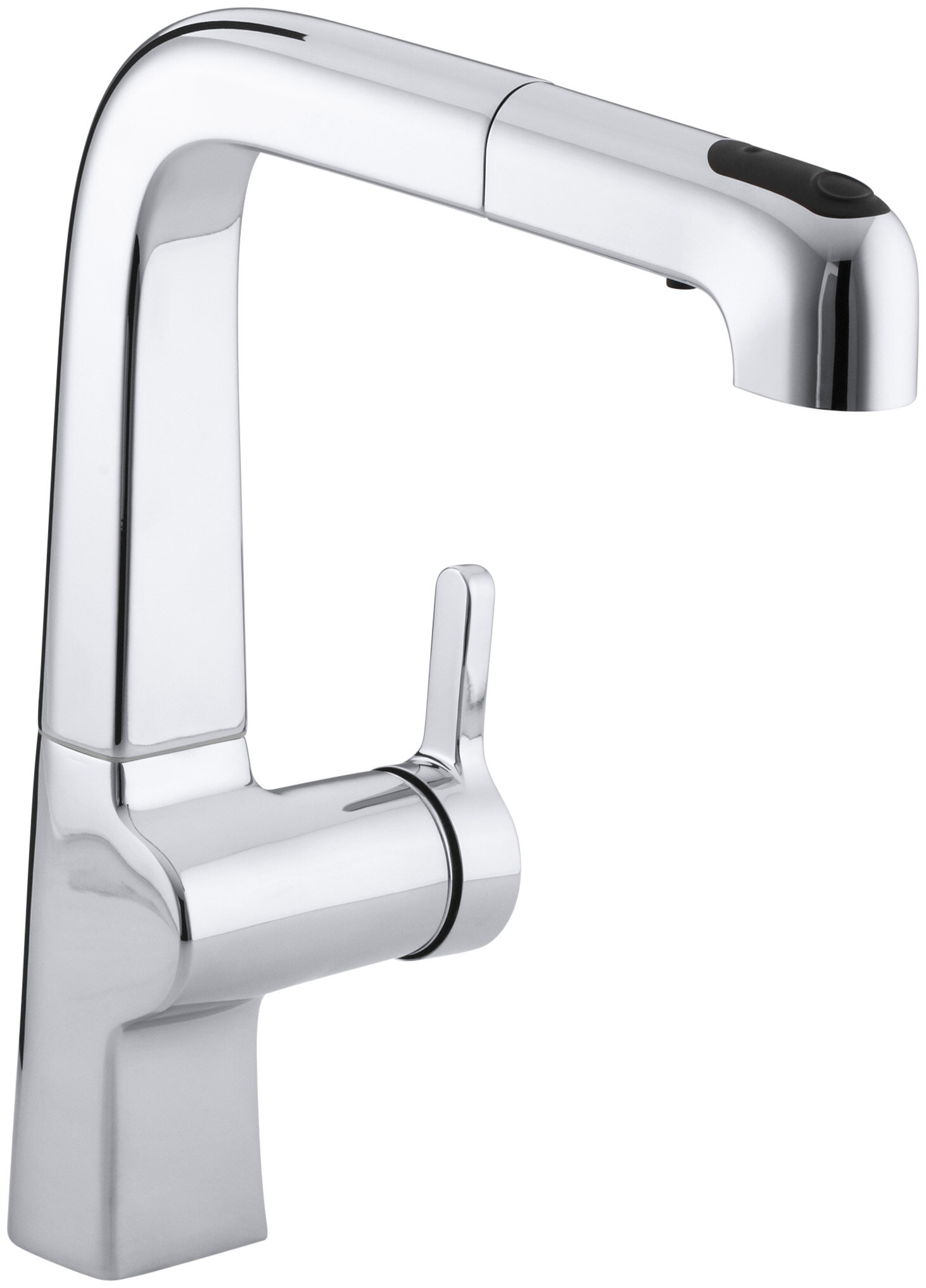 K 6331 CP VS Kohler Evoke Single Hole Kitchen Sink Faucet with 9