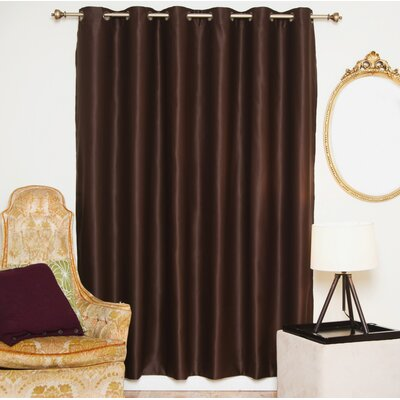 "Solid Blackout Thermal Grommet Single Curtain Panel Blackout Curtain Size per Panel: 100"" W x 108"" L, Color: Chocolate"