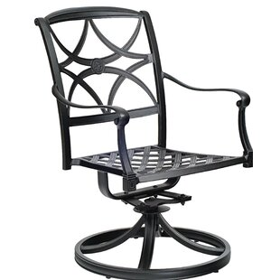 Wiltshire Swivel Rocking Patio Dining Chair by Woodard
