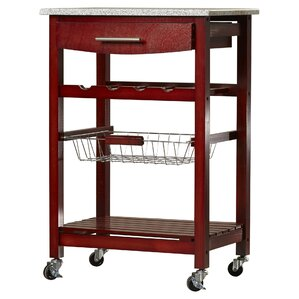 Flint Kitchen Cart with Granite Top by Varick Gallery