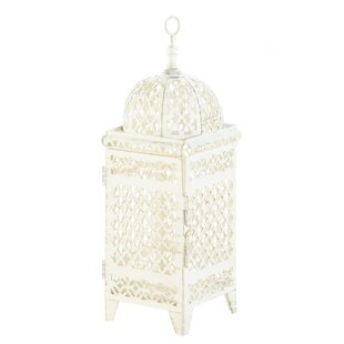 Zingz & Thingz Quatrefoil Design Cutout Iron Lantern