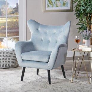 3d09e67321f7 Light Grey Wingback Chair