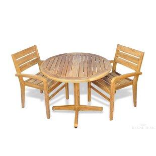 Bayou Breeze Bodalla 3 Piece Teak Dining Set