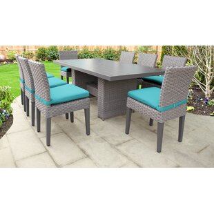 Monterey 9 Piece Outdoor Patio Dining Set with Cushions