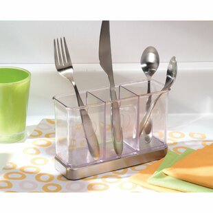 Eisele 3 Compartment Utensil Spatula Silverware Holder