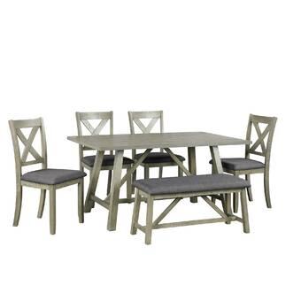 August Grove Bop 3 Piece Pine Solid Wood Breakfast Nook Dining Set Reviews Wayfair