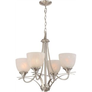 4-Light Shaded Chandelier by Monument
