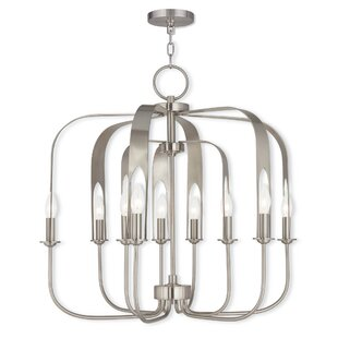 Lawrence 9-Light Foyer Geometric Chandelier by Latitude Run