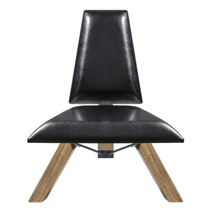 Hahn Slipper Chair In Black PU Leather