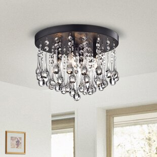 Willa Arlo Interiors Alya 4-Light LED Flush Mount