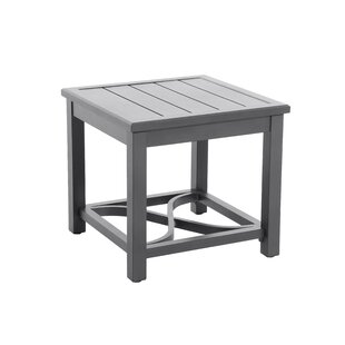 Attalla Post Leg Slats Metal Side Table