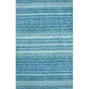 Acklins Hand-Tufted Sky Blue Area Rug