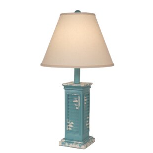 Coastal shutter table lamp wayfair jacobson shutter 27 table lamp aloadofball Image collections