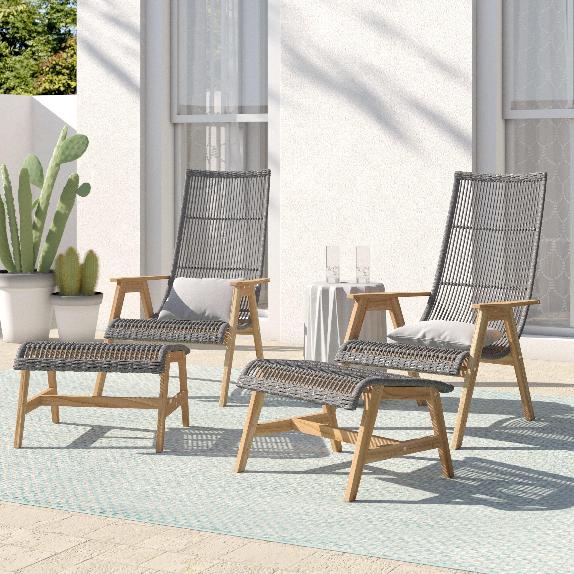 Mistana Largent Teak Patio Chair With