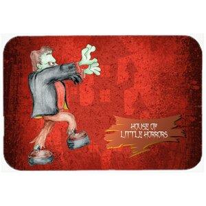 Little House Of Horrors with Frankenstein Halloween Kitchen/Bath Mat
