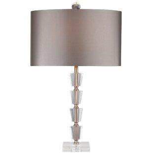 Stacked crystal lamp wayfair sharolyn stacked crystal bud vase led 26 table lamp aloadofball Images