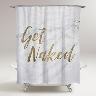 Best Reviews Lohr Get Naked Shower Curtain By Ivy Bronx