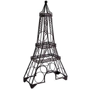 Mccurley Eiffel Tower 6 Bottle Tabletop Wine Bottle Rack