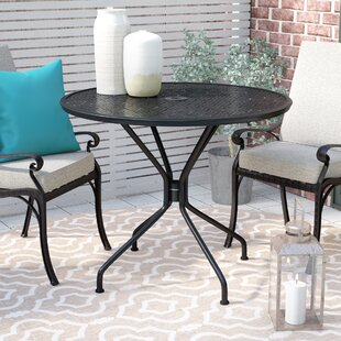Albreda Round Indoor-Outdoor Dining Table by Winston Porter Fresh