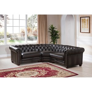 Anaheim Leather Sectional by Amax
