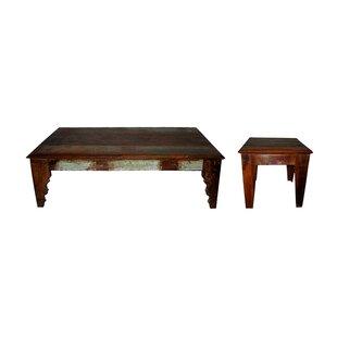 Loon Peak Lottie 2 Piece Coffee Table Set