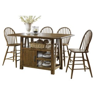 Claybrooks Centre Island 5 Piece Dining Set by Gracie Oaks #1