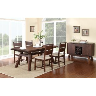 Damiani 5 Piece Extendable Solid Wood Dining Set