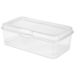 Large Clear Flip Top Storage Box (Set Of 6). By Sterilite