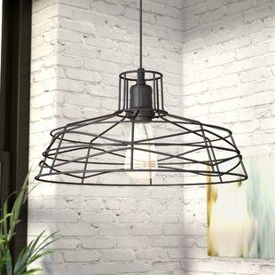 Modern contemporary entryway lighting youll love wayfair bressler 1 light led pendant aloadofball Choice Image