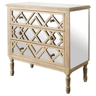 Daniela Natural 3 Drawer Accent Chest by Bungalow Rose