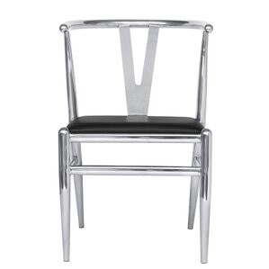 Wishsteel Genuine Leather Upholstered Dining Chair by Fine Mod Imports