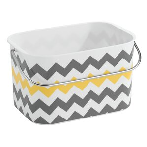 una bathroom tote basket with handle - Bathroom Baskets