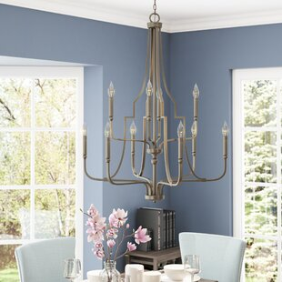 Three Posts Climsland 10-Light Chandelier