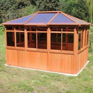 Solarus 8.5 Ft. W x 12.5 Ft. D Wood Permanent Gazebo