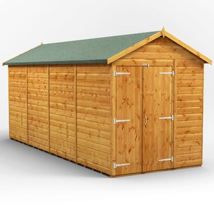 6 Ft. W X 16 Ft. D Shiplap Apex Wooden Shed By WFX Utility