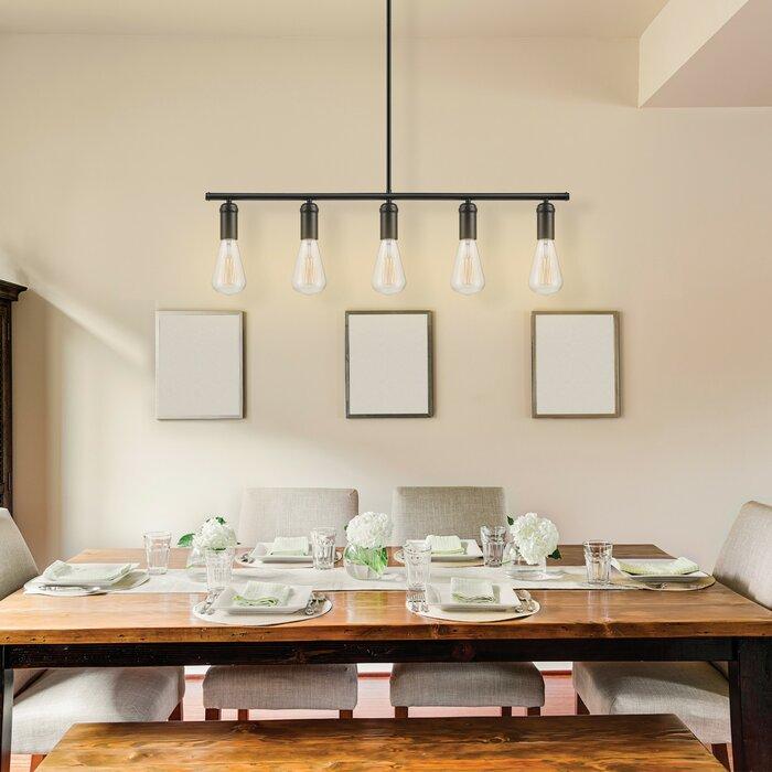 Pendant lights youll love wayfair chromeo 5 light kitchen island pendant mozeypictures Choice Image