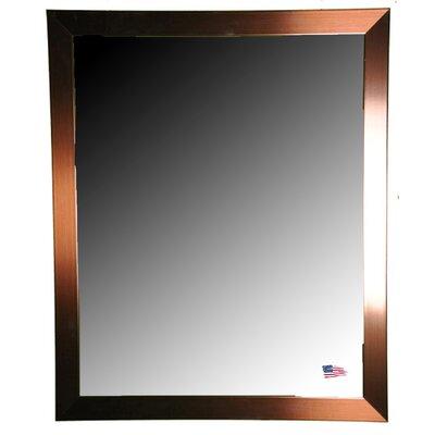 Brayden Studio Industrial Bronze Wall Mirror Size: 31 H x 25 W x 0.75 D