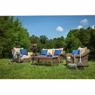 Beckwith 4 Piece Deep Sunbrella Seating Group with Cushion by Canora Grey