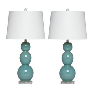 House of Hampton Lilac Glass Table Lamp (Set of 2)