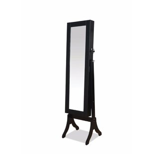 Latitude Run Vytis Free Standing Jewelry Armoire with Mirror