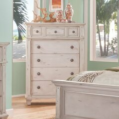 One Allium Way Dorinda Vintage Style 5 Drawer Chest Image