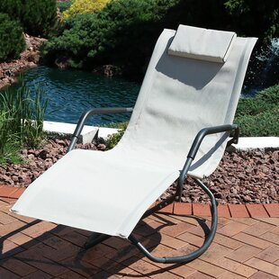 Ebern Designs Cheadle Folding Lounger Rocking Chair with Cushions