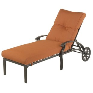 Borman Reclining Chaise Lounge with Cushion