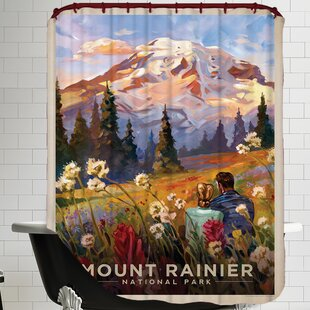 Shop For Mt. Rainier Shower Curtain By East Urban Home