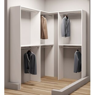 Bargain Demure Design 59.5W - 74.25W Closet System By TidySquares Inc.
