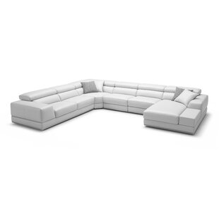Savings Leather Sectional by Wade Logan Reviews (2019) & Buyer's Guide