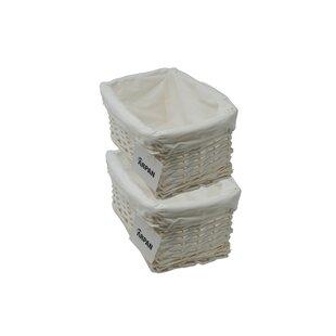 Eco Friendly Storage Hamper Wicker Basket (Set Of 4) By August Grove