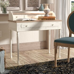 Lark Manor Sevan Secretary Desk with Hutch