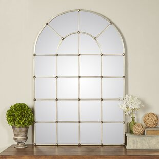 One Allium Way Metal Arch Window Wall Mirror