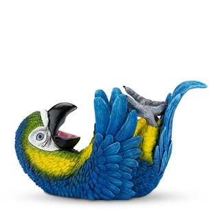 Polyresin Parched Parrot Tabletop Wine Bo..